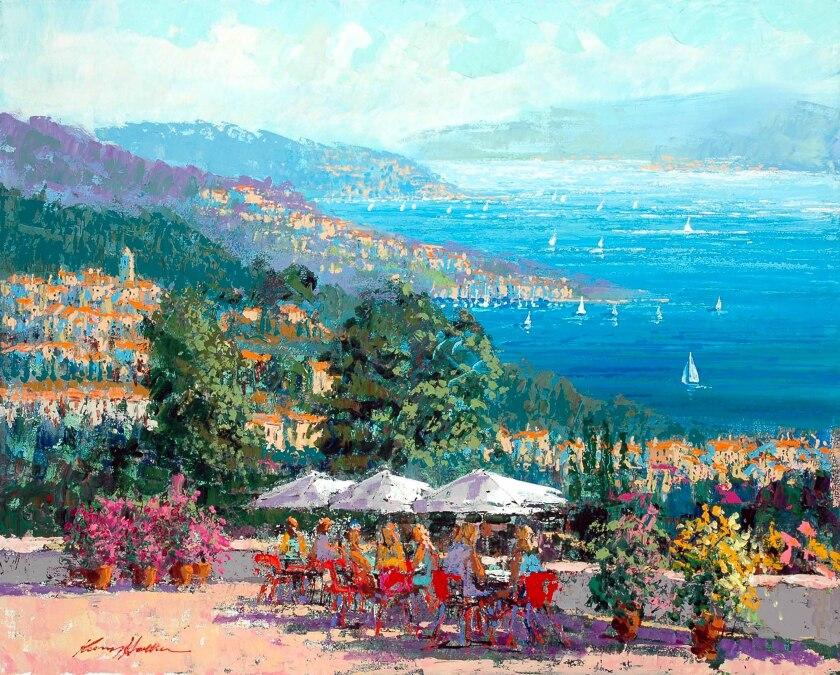 Kerry Hallam, Cote Varoise, Acrylic on Canvas