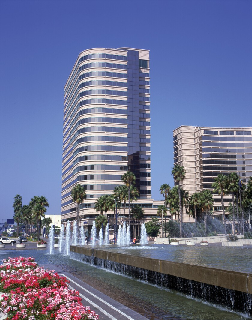 Shoreline Square on the Long Beach waterfront