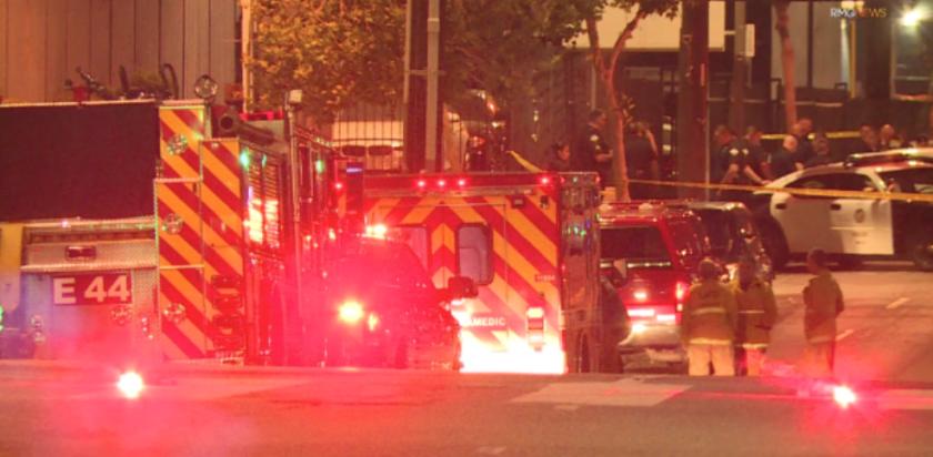 Scene of LAPD officer fatally shot