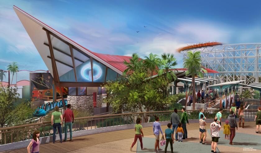 Vista de lo que será Pixar Pier