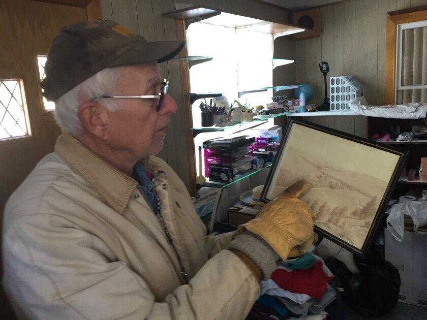 Bill Sunderlin, 78, points out the Tex Lodge Ranch Resort owned by his grandparents in Iola. They lo