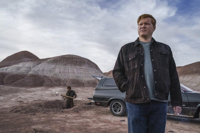 """Jesse Plemons and Aaron Paul in """"El Camino: A Breaking Bad Movie"""""""