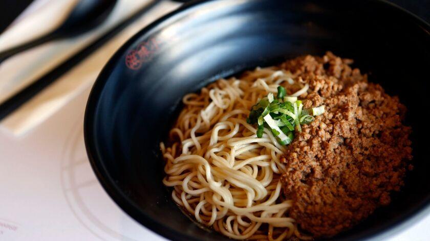 Chingdu Zajiang is on the menu at Mian restaurant in San Gabriel.
