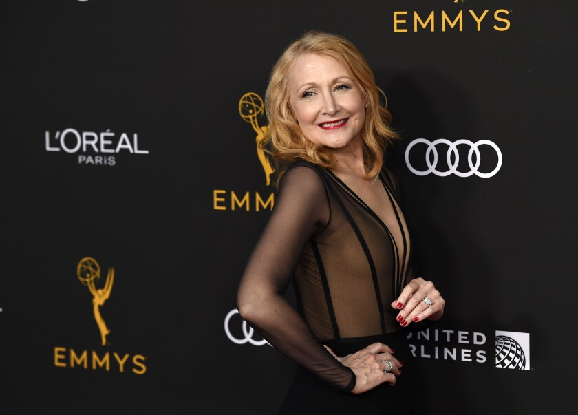 Actress Patricia Clarkson poses at the Performers Nominee Reception for Sunday's 71st Primetime Emmy Awards, Friday, Sept. 20, 2019, in Beverly Hills, Calif. (Photo by Chris Pizzello/Invision/AP)