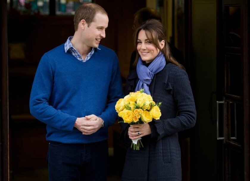 Prince William and his wife Kate, whose baby is coming soon, in 2012