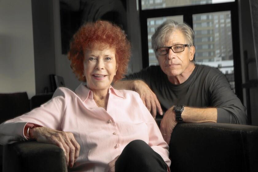 Kathryn Altman, widow of Robert Altman, and screenwriter Robert Harders at Kathryn Altman's home in New York on June 1, 2015.