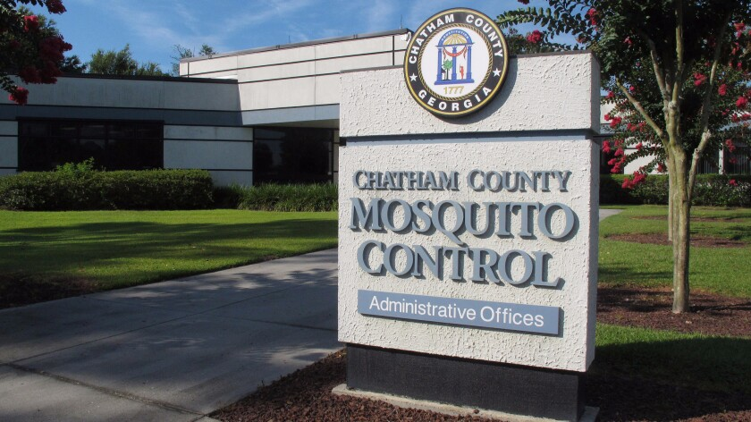 Mosquito control offices are seen in Savannah, Ga. June 30. Although Chatham County spends $3.8 million a year on such measures, many of Georgia's counties provide no such taxpayer funded services. Meanwhile, insects carrying the Zika virus have been found throughout the state.
