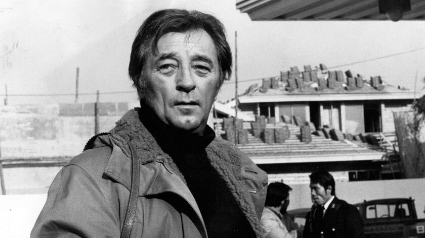 """Robert Mitchum on location in Tokyo for 1974's """"The Yakuza."""""""