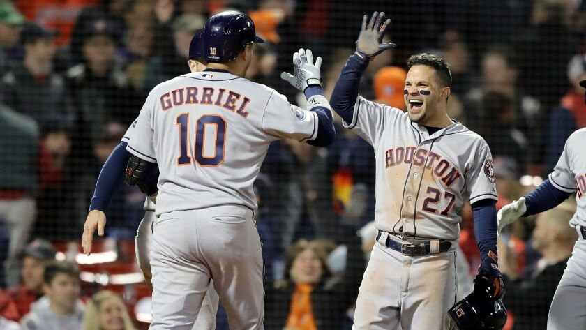 League Championship Series - Houston Astros v Boston Red Sox - Game One