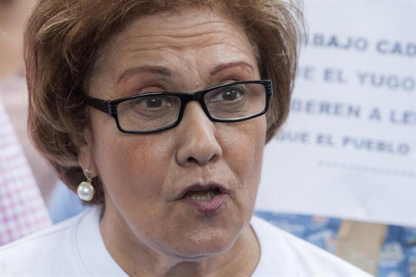 La alcaldesa metropolitana (encargada) de Caracas, Helen Fernández, durante una conferencia de prensa. EFE/Archivo