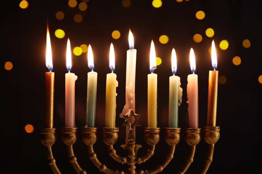 Menorah Lighting There will be music, latkes provided by The LOT, raffle prizes and other Hanukkah surprises, 5-8 p.m. Sunday, Dec. 22, between The LOT and Rady Children's Ice Rink at Liberty Station. Menorah lighting 5:25 p.m. Free. libertystation.com