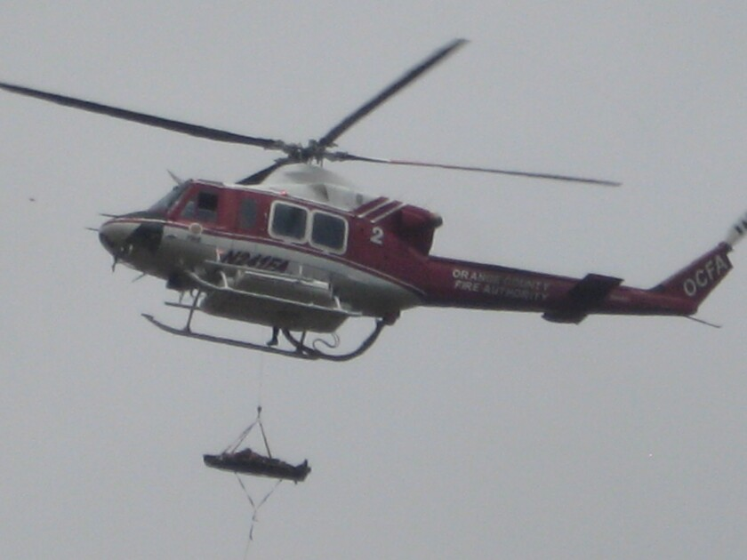 Hiker airlifted to Mission Hospital