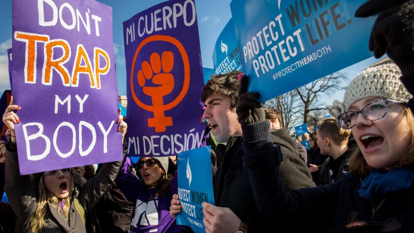 Abortion rally outside U.S. Supreme Court