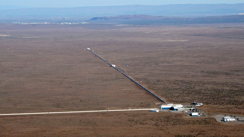 The Laser Interferometer Gravitational-Wave Observatory, or LIGO, detector in Hanford, Wash.