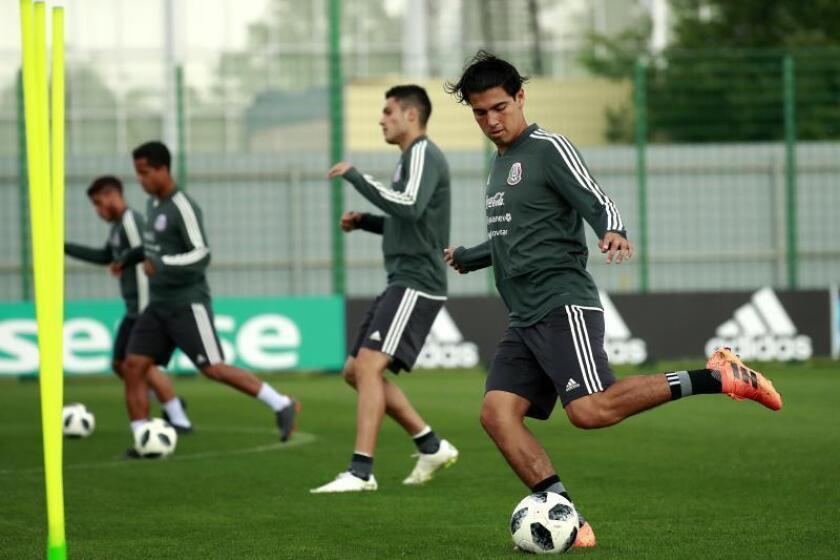 El mediocampista de la selección mexicana de fútbol, Erick Gutiérrez. EFE/Archivo