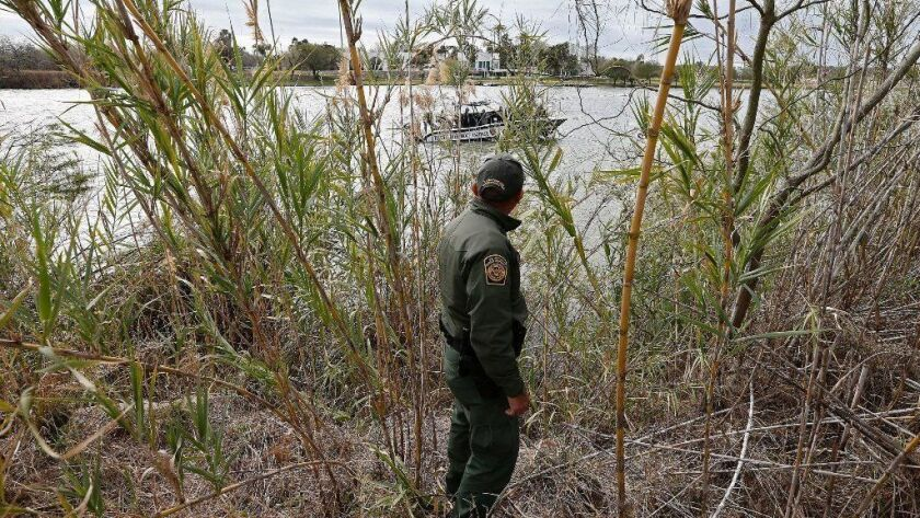 United States Border Patrol secure the border with Mexico along the Rio Grande river, Mcallen, USA - 23 Jan 2019