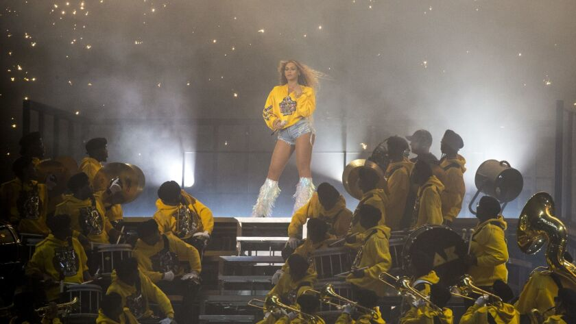 INDIO, CALIF. - APRIL 14: Beyonce Knowles performs onstage during Day 2 of the Coachella Valley Arts