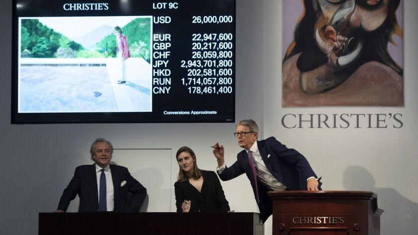 US-ART-AUCTION-CHRISTIE-HOCKNEY