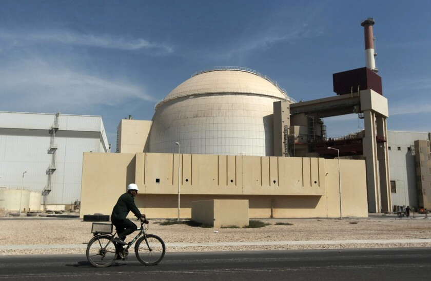 Reactor building of Iranian nuclear power plant