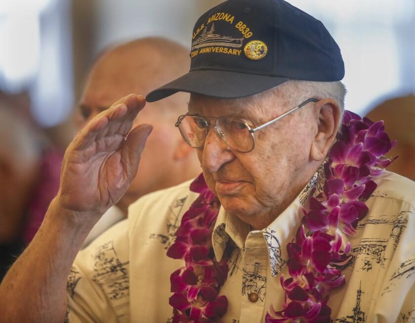End of an era: Last Pearl Harbor veteran to be interred at USS Arizona Memorial