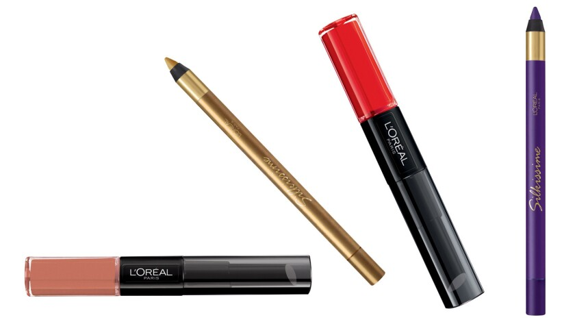 "L'Oréal Paris products, pro-last lip color in ""Neverending nutmeg,"" l"