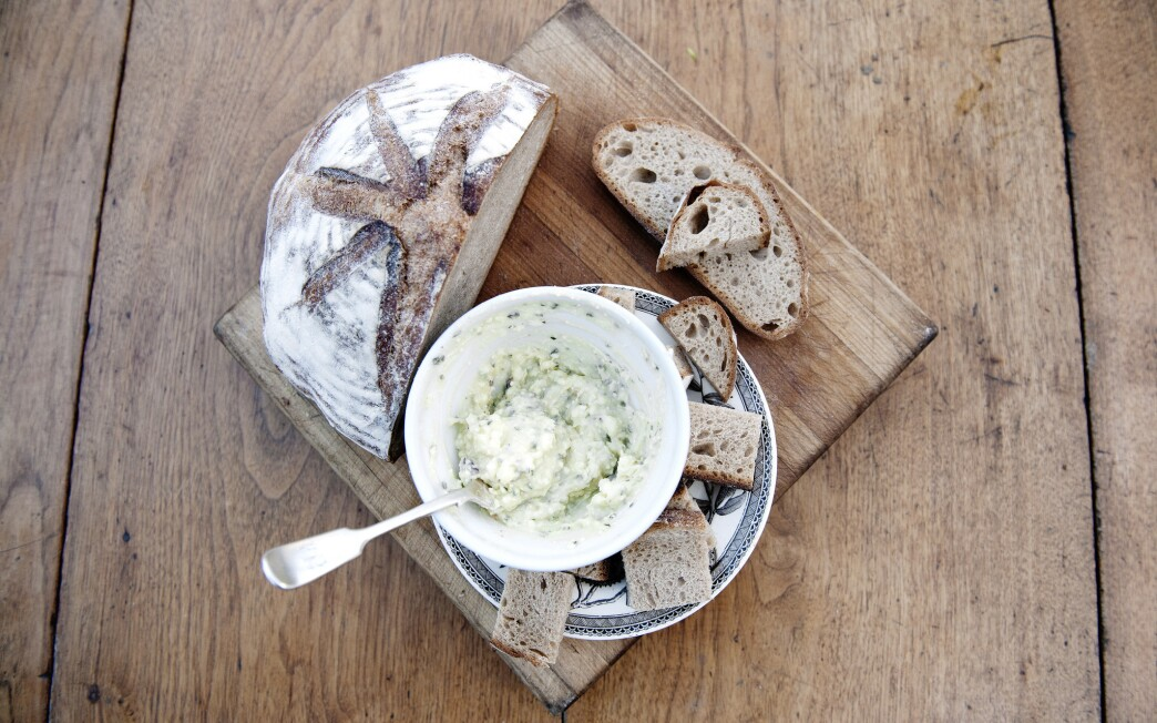 Smoky goat cheese spread