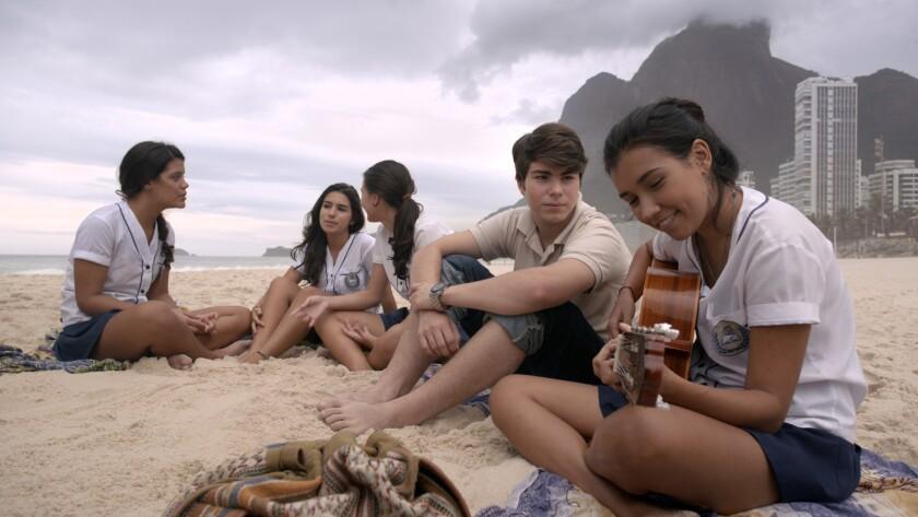 "Thales Cavalcanti as Jean and Bruna Amaya as Luiza in the movie ""Casa Grande."""