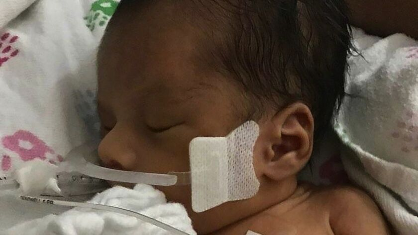 Baby Yovani, seen in a local hospital, after his mother Marlen Ochoa-Lopez was found dead in a home