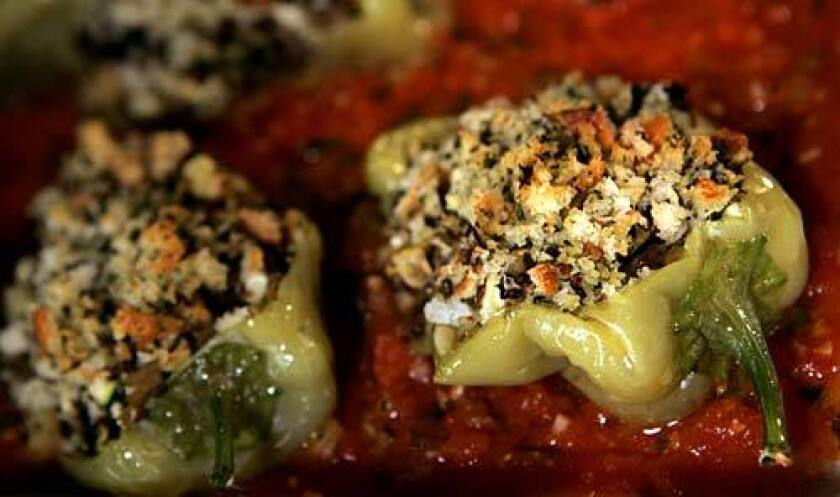 FRESH: Vegetable-stuffed Hungarian peppers.