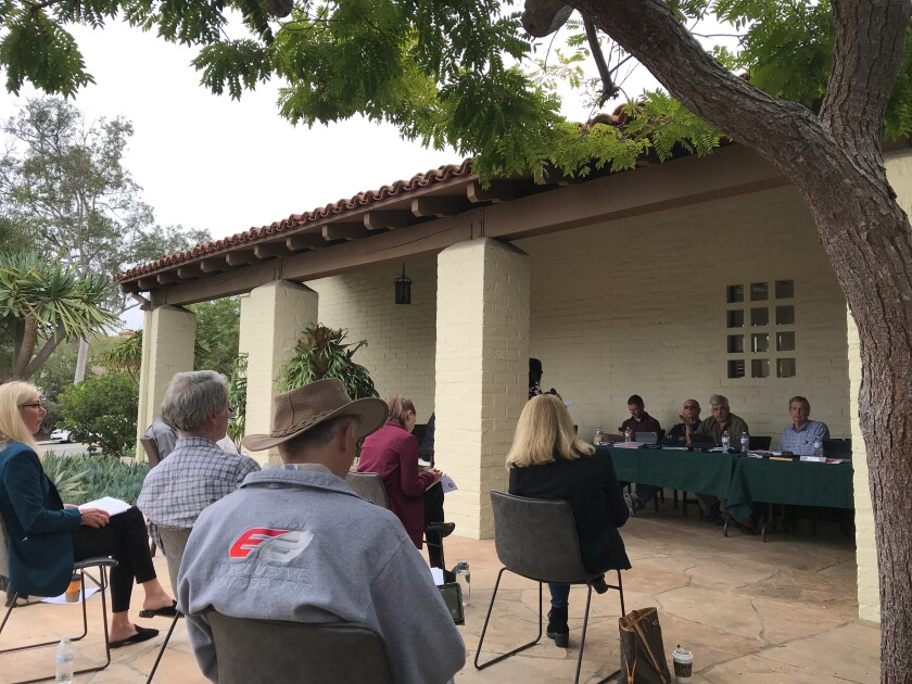 The RSF Association board met outside on Oct. 7.
