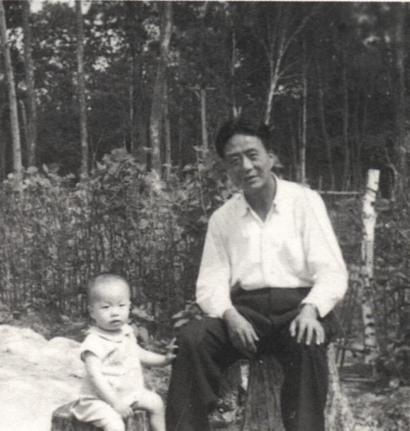 Ai Weiwei and his father, Ai Qing, pictured at Farm 852 labor camp, Heilongjiang, China, in 1958.
