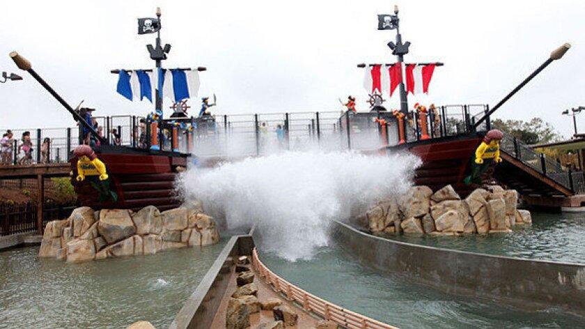 Pirate Reef water ride at Legoland California.