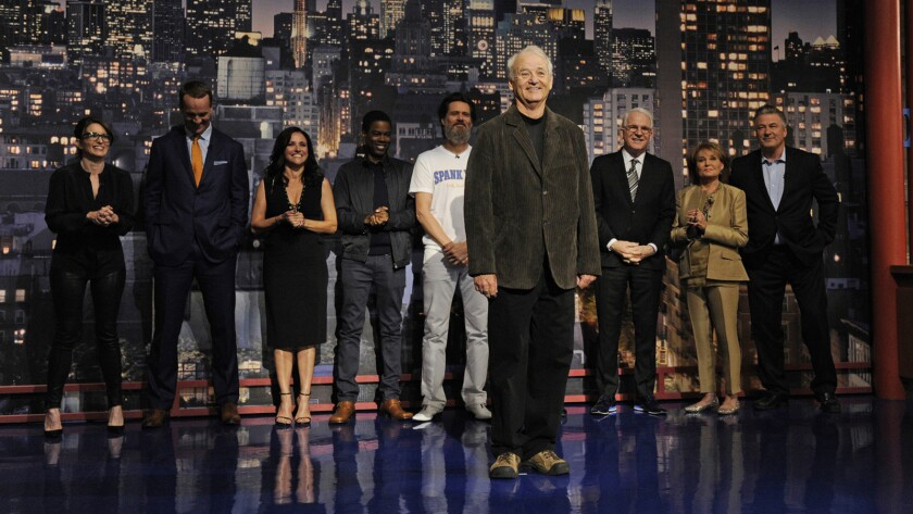 For his final Top 10 list, David Letterman had some help from high-profile friends.