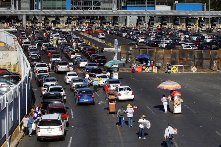 Vista general de la Garita El Chaparral, en Tijuana (México). EFE/Archivo