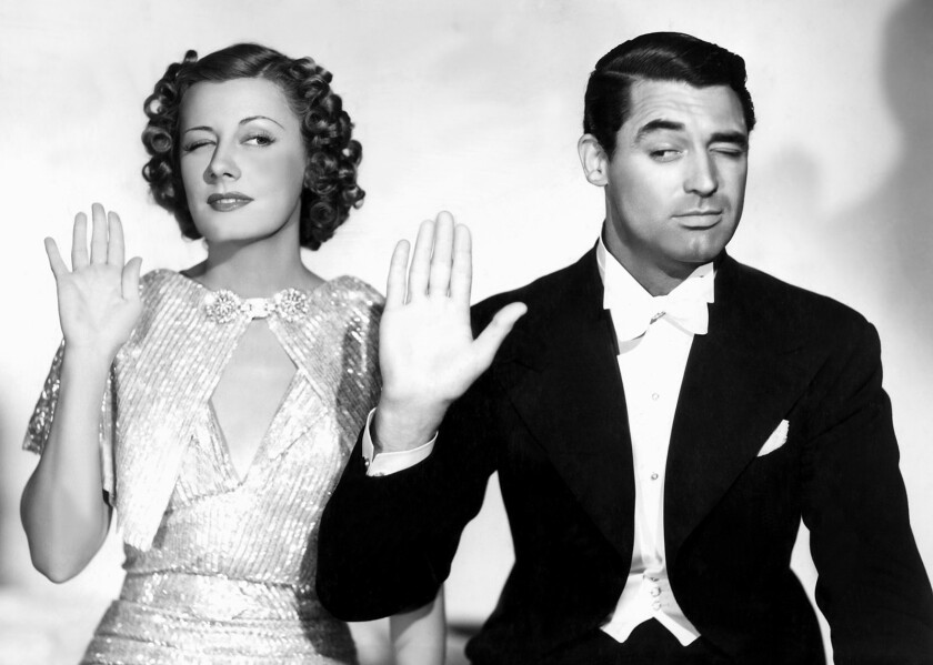 """Irene Dunne as Lucy Warriner and Cary Grant as Jerry Warriner in the 1937 film """"The Awful Truth."""" Cr"""