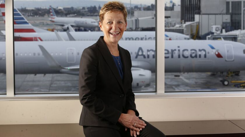 LOS ANGELES CA. MARCH 21, 2018: Suzanne Boda was at the American Airlines offices at Los Angeles In