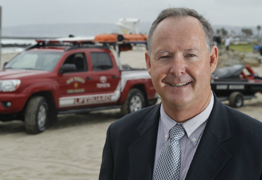 Lifeguard Ed Harris is challenging Mayor Kevin Faulconer John Gibbins U-T