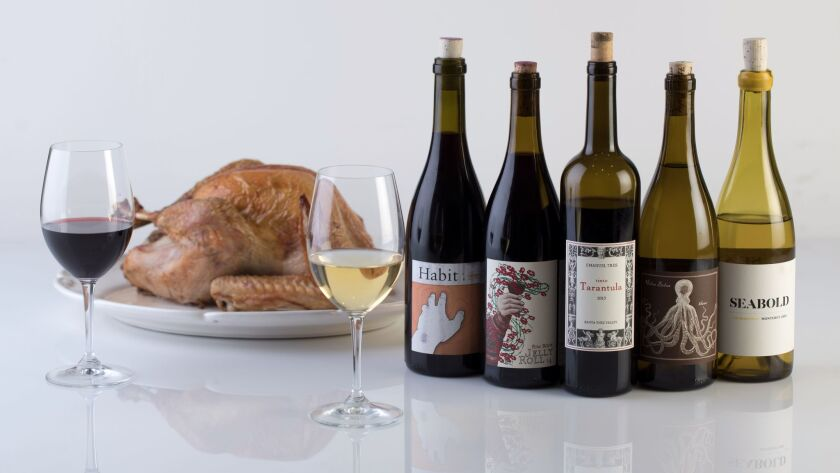 "For the food section story ""5 local wines to pair with your Thanksgiving feast"" by Patrick Comiskey."