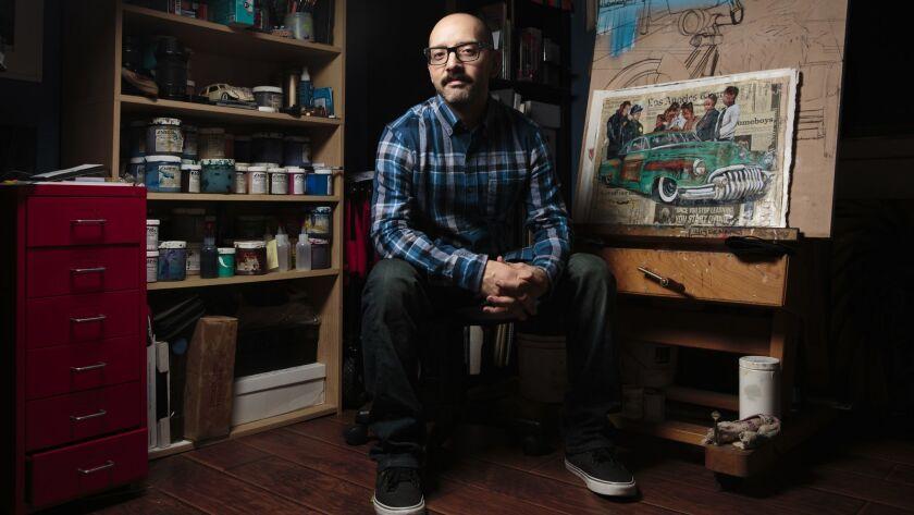 Luis Genaro Garcia at his home in Whittier