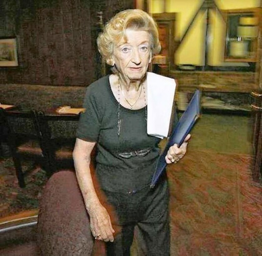 Antonia Becerra of Glendale has been working at the landmark French restaurant Taix in Los Angeles for more than 40 years. The Glendale Police Officers' Assn. has started collecting funds for her.