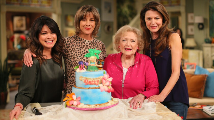 """TV Land channel laid off more than 20 people amid cost-cutting at parent company Viacom Inc. TV Land has had a mixed track record with original shows but scored with """"Hot in Cleveland,"""" starring Valerie Bertinelli, Wendie Malick, Betty White and Jane Leeves."""