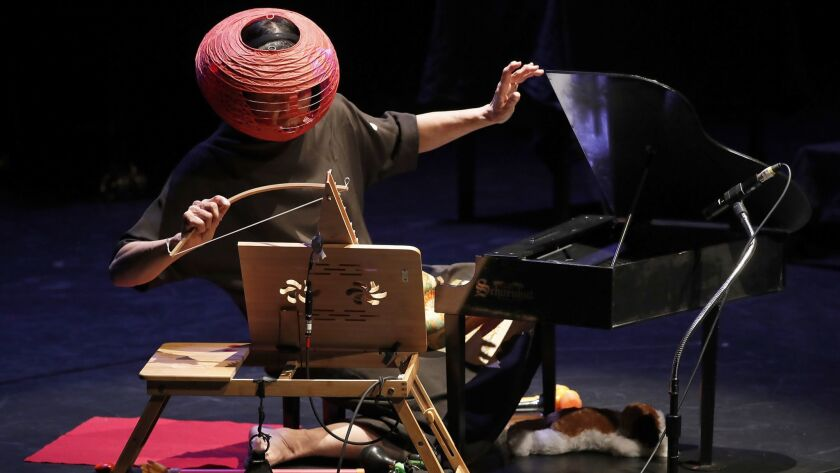 LOS ANGELES, CALIF. - NOV. 1, 2018. Professional toy piano virtuoso Margaret Leng Tan performs at R