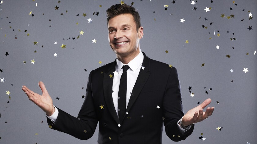 "Ryan Seacrest hosts ""New Year's Rockin' Eve"" on ABC."