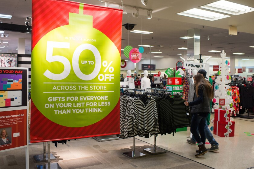J.C. Penney offered big sales around the holidays to entice shoppers into the store in Hermitage, Pennsylvania.