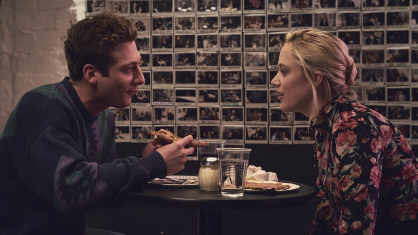 "(L-R) - Jeremy Allen White and Maika Monroe in a scene from ""After Everything."" Credit: Good Deed En"