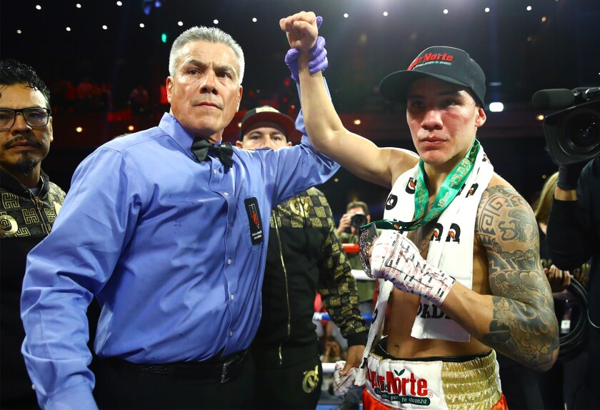 Oscar Valdez is declared the winner.
