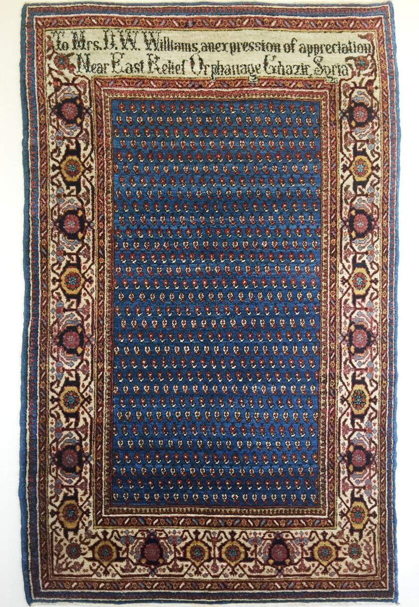 A rug woven by orphans of the Armenian Genocide