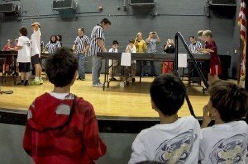 Suspense during the first round of Preuss School Qualifying Tournament.