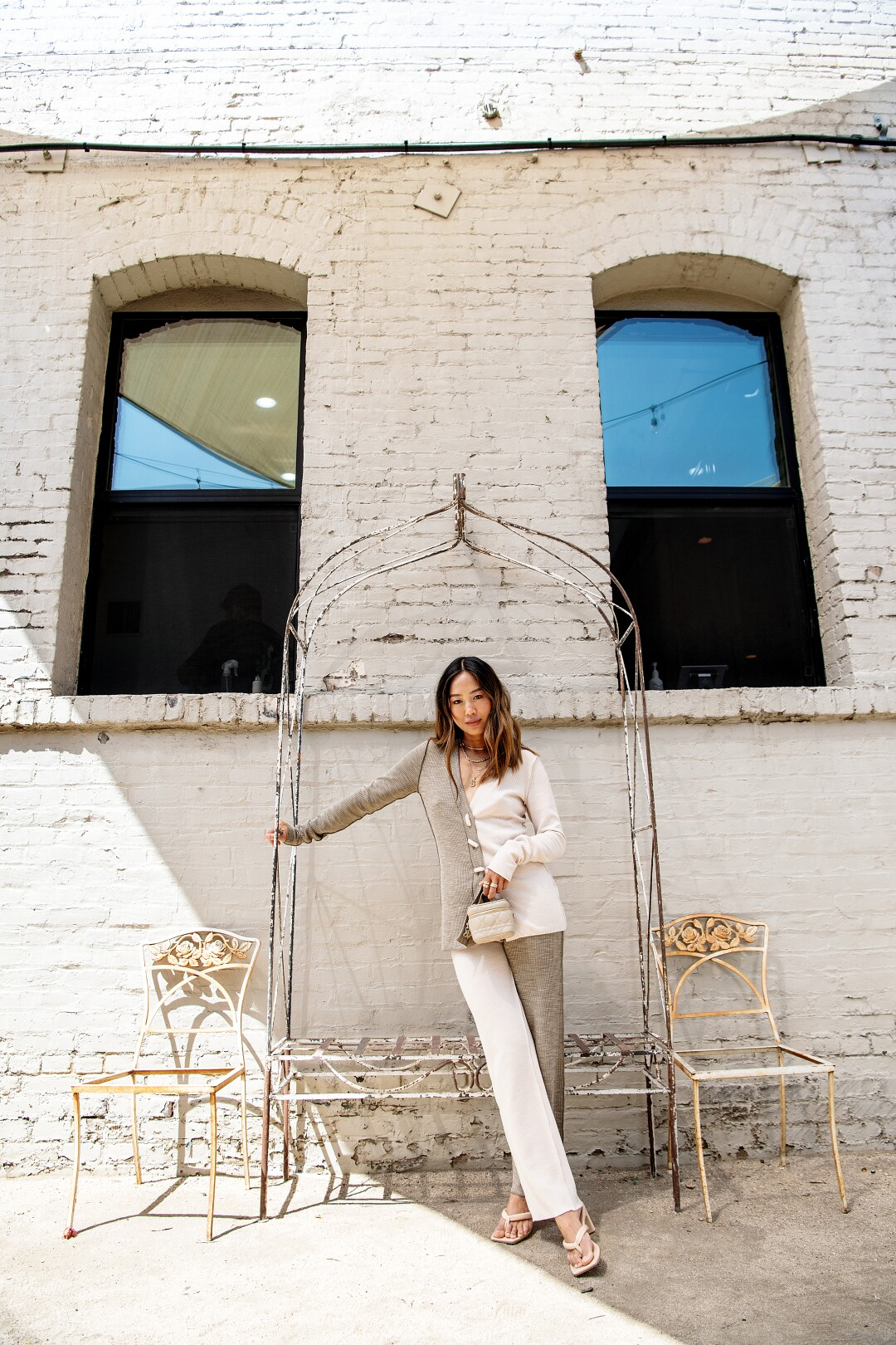 Portrait of Aimee Song in the Arts District.