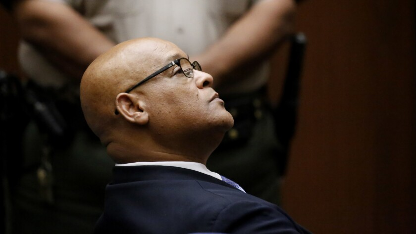 LOS ANGELES CA AUGUST 30, 2017 -- Former Compton Mayor Omar Bradley was sentenced Wednesday August